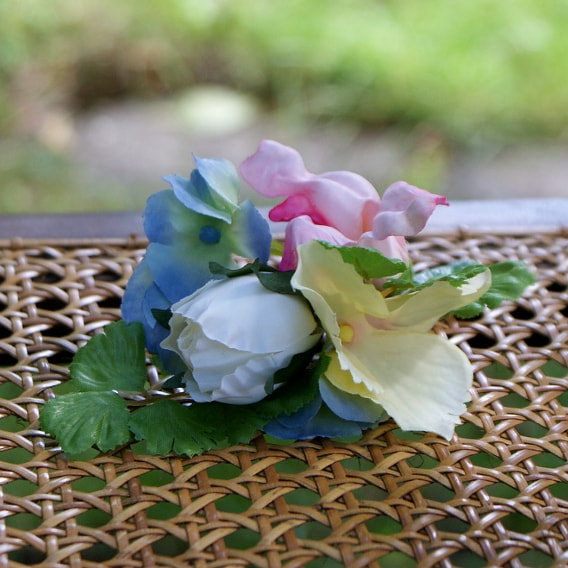Silk flower buttonhole