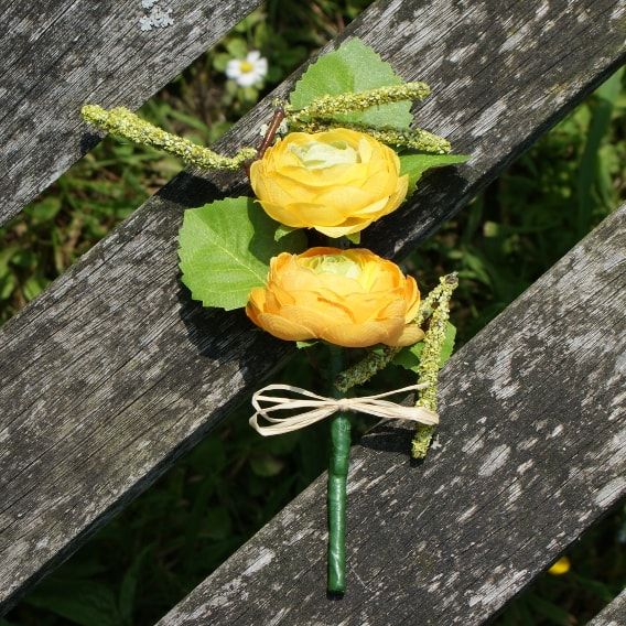 Yellow ranunculus buttonhole