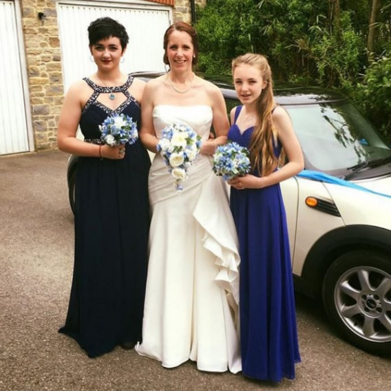 Emma and her bridesmaids