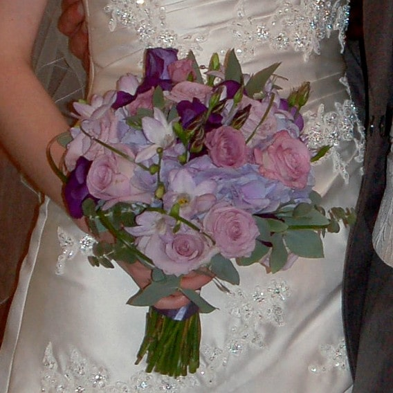 Original purple bouquet