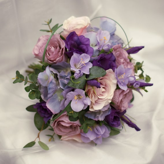 Purple replica wedding bouquet