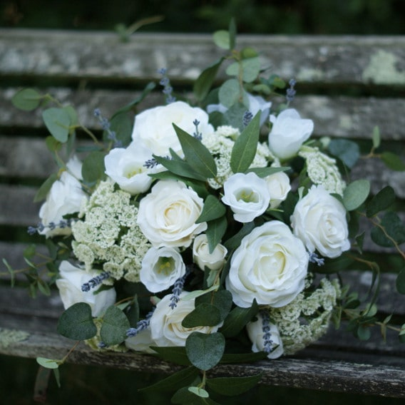 White replica wedding bouquet