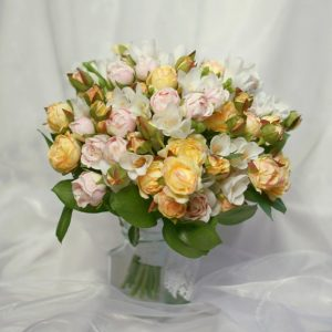 Replica rose and freesia bouquet