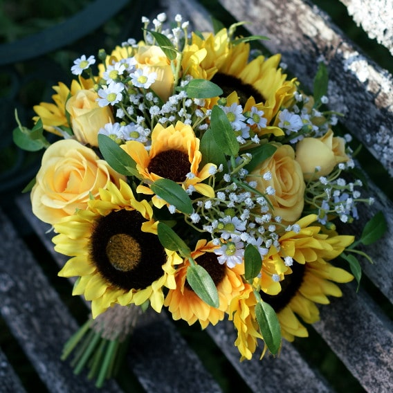 Replica sunflower bouquet