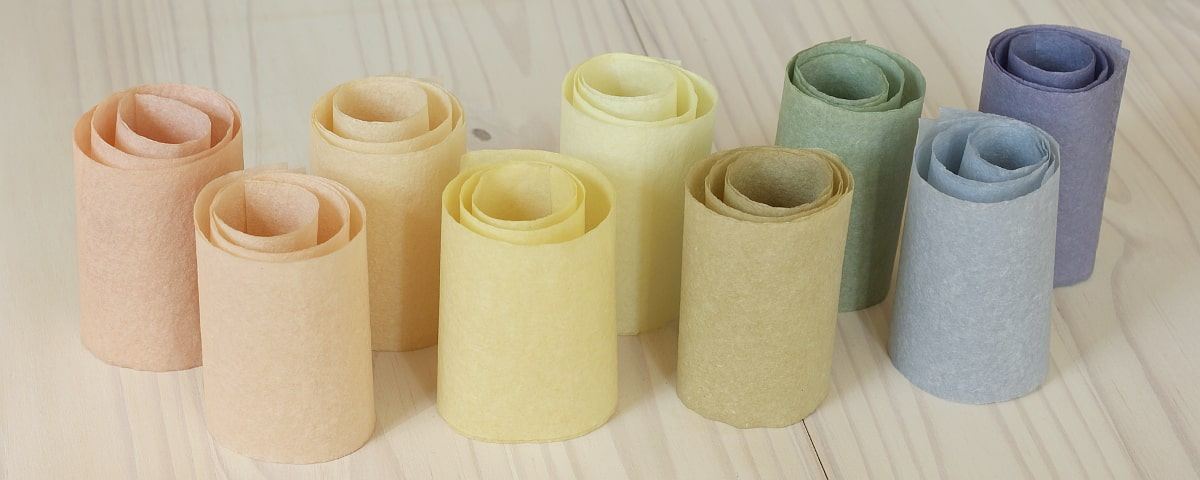 dyed paper rolls
