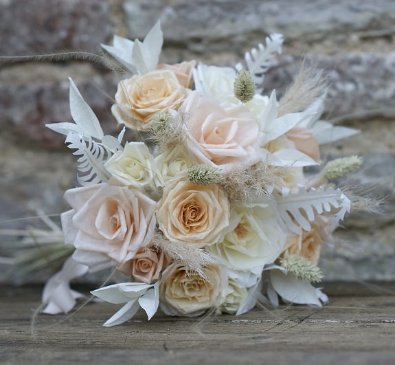 mixed paper rose bouquet
