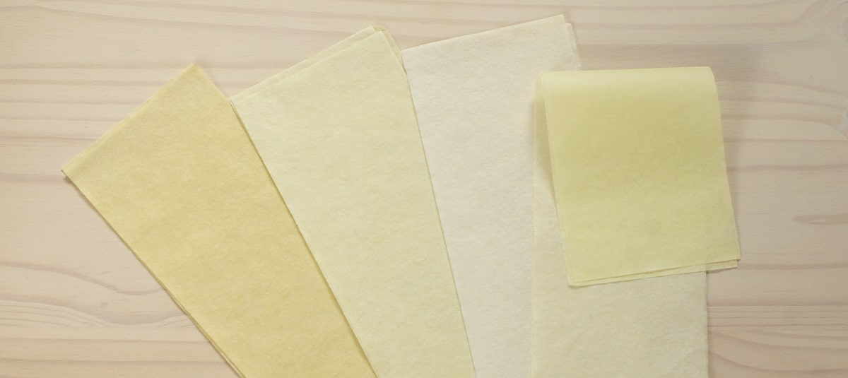 yellow tissue papers