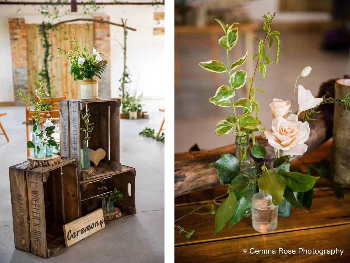 eco wedding styling