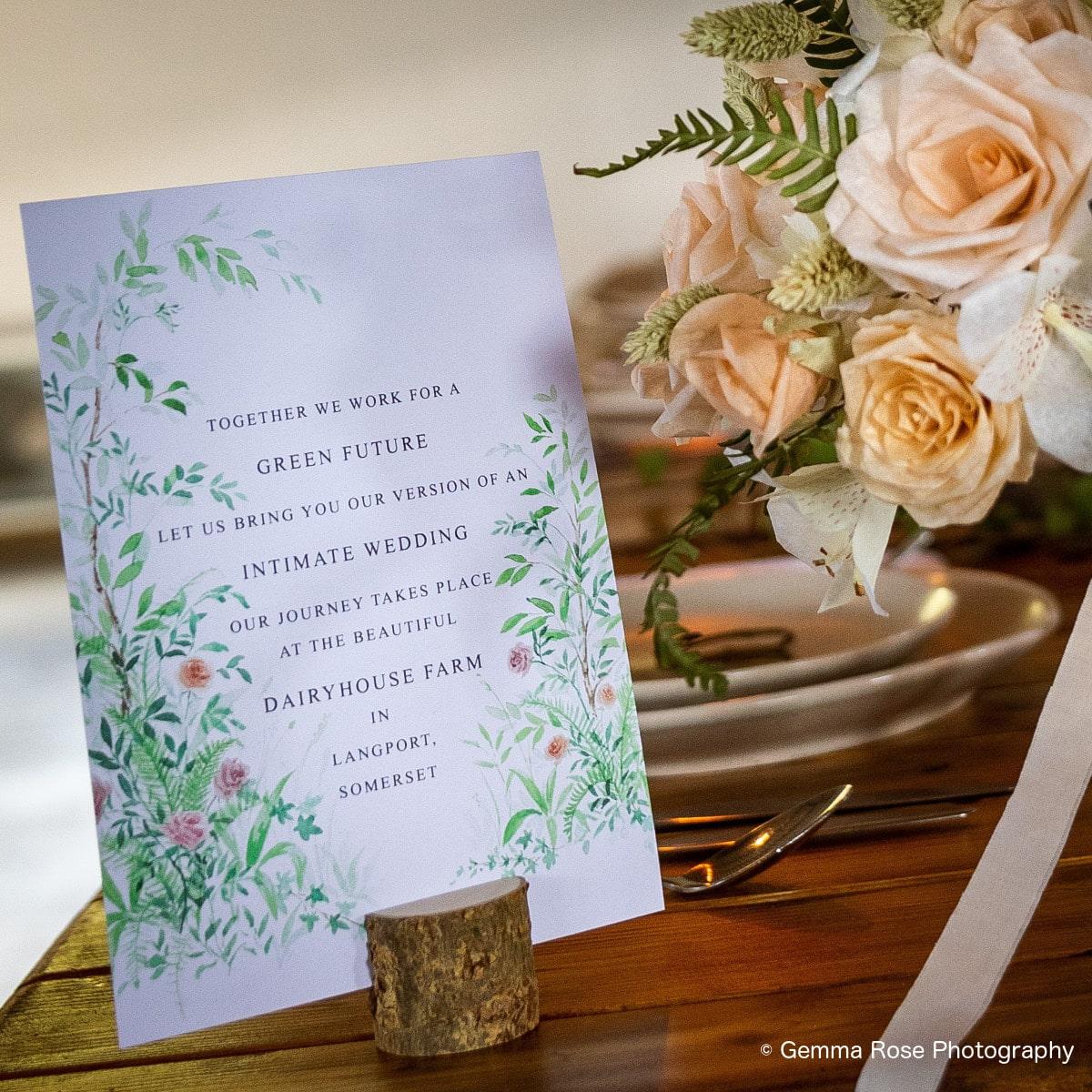 invite to eco wedding
