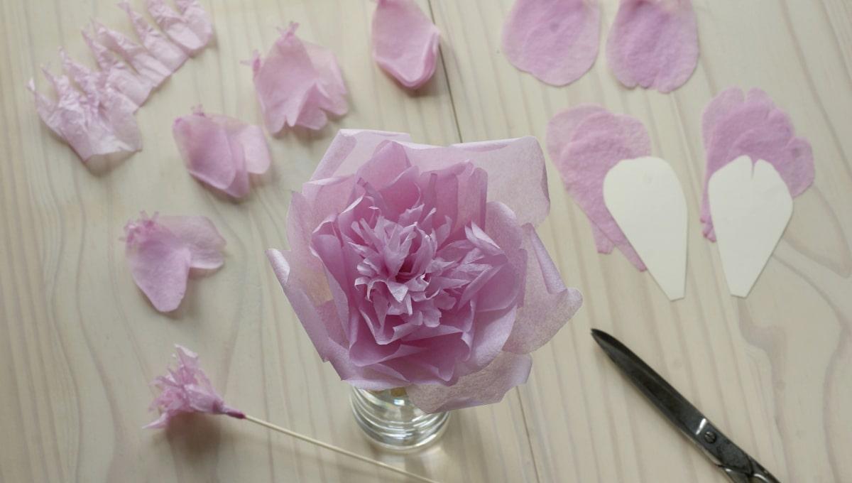 pink paper peony flower